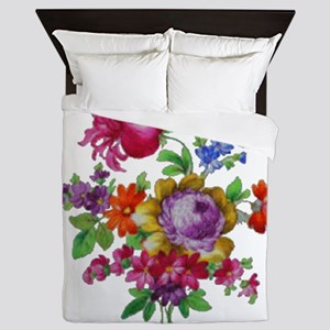 Dresden Flowers Queen Duvet