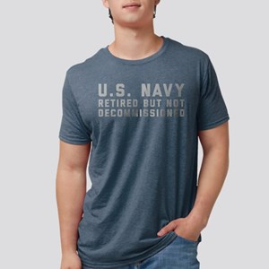 US Navy Retired Not Decommi Mens Tri-blend T-Shirt