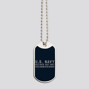 US Navy Retired Not Decommissioned Dog Tags