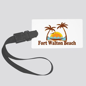 Fort Walton Beach - Palm Trees Design Large Luggag