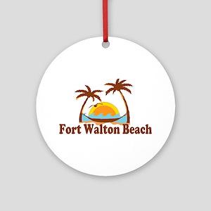Fort Walton Beach - Palm Trees Design Ornament (Ro