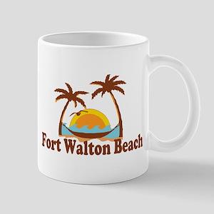 Fort Walton Beach - Palm Trees Design Mug