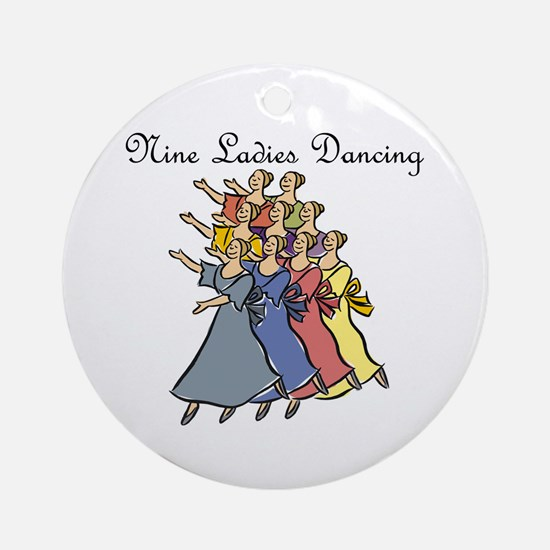 Ninth Day of Christmas Ornament (Round)