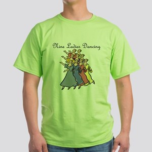 Ninth Day of Christmas Green T-Shirt
