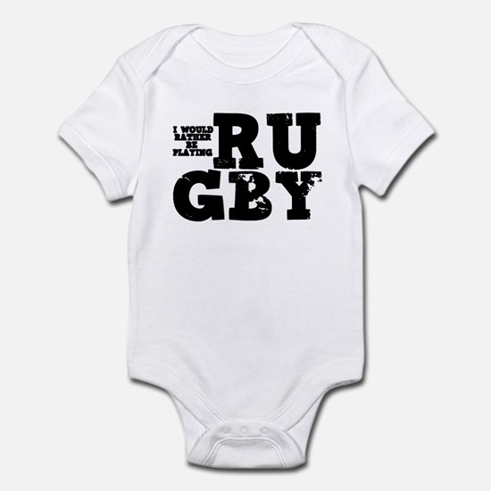 'Playing Rugby' Infant Bodysuit