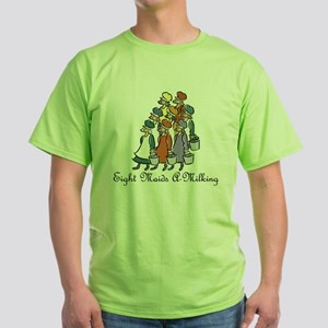 Eighth Day of Christmas Green T-Shirt