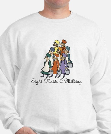 Eighth Day of Christmas Sweatshirt
