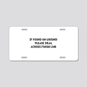 Drag Across Finish Aluminum License Plate