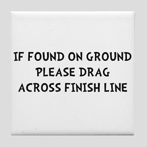 Drag Across Finish Tile Coaster