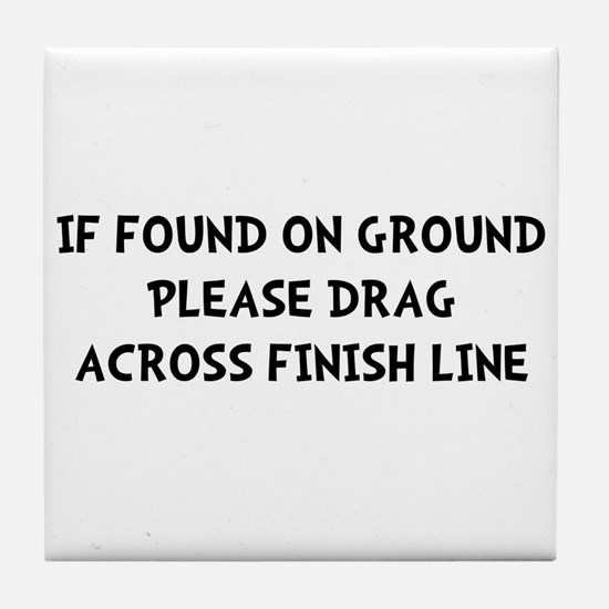 Drag Across Finish Tile Coaster