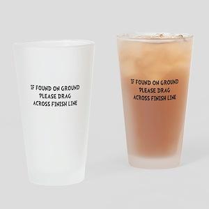 Drag Across Finish Drinking Glass