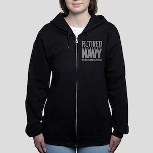 US Navy Retired Not Decommissio Women's Zip Hoodie