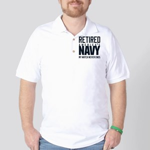 US Navy Retired Not Decommissioned Polo Shirt