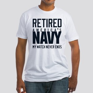 US Navy Retired Not Decommissioned Fitted T-Shirt