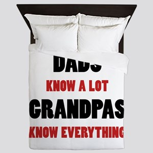 Grandpas Know Everything Queen Duvet