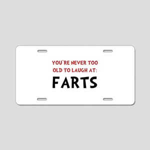 Laugh Farts Aluminum License Plate