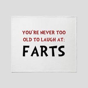 Laugh Farts Throw Blanket