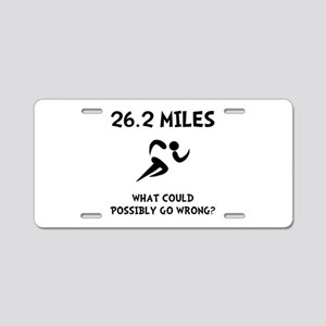 Marathon Go Wrong Aluminum License Plate