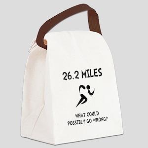Marathon Go Wrong Canvas Lunch Bag
