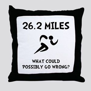 Marathon Go Wrong Throw Pillow