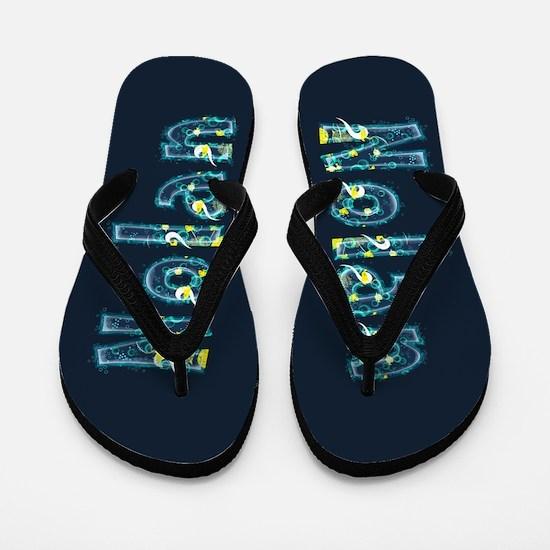 Nolan Under Sea Flip Flops