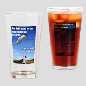 Debt Bomb Drinking Glass
