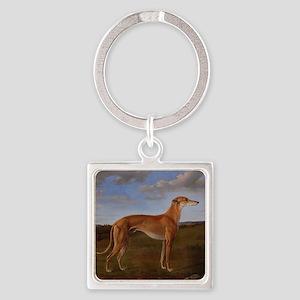 Vintage Greyhound Painting Keychains
