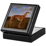 Vintage Greyhound Painting Keepsake Box