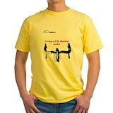 Funny cycling Mens Classic Yellow T-Shirts
