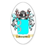 Bracegirdle Sticker (Oval)