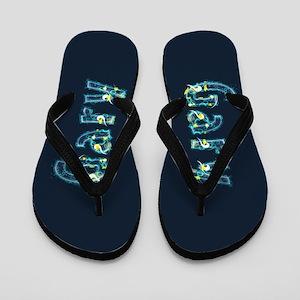 Gary Under Sea Flip Flops