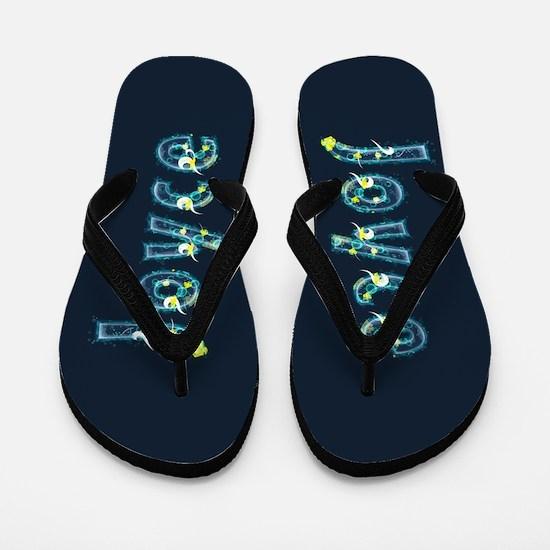Joyce Under Sea Flip Flops