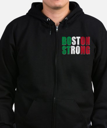 Italian Boston Pride Zip Hoodie (dark)