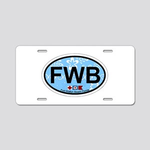 Fort Walton Beach - Oval Design Aluminum License P