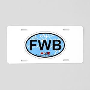 Fort Walton Beach - Oval Design Aluminum License P