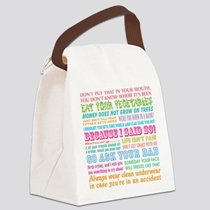 Momisms Canvas Lunch Bag