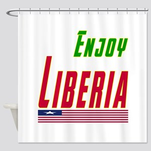 Enjoy Liberia Flag Designs Shower Curtain