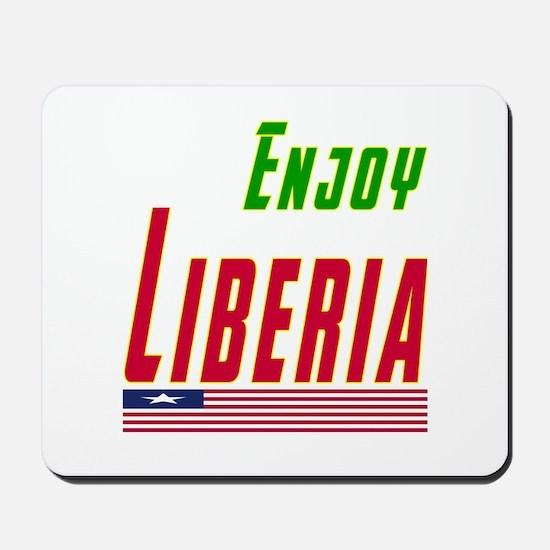 Enjoy Liberia Flag Designs Mousepad
