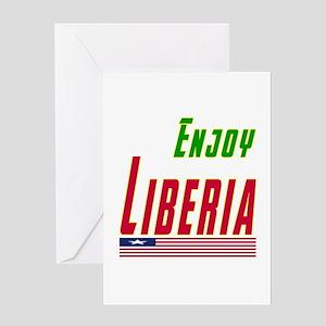 Enjoy Liberia Flag Designs Greeting Card