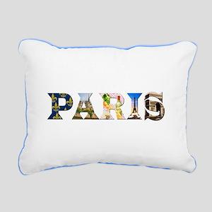 Paris Rectangular Canvas Pillow