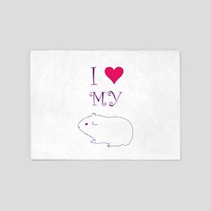 I Love My Guinea Pig 5'x7'Area Rug