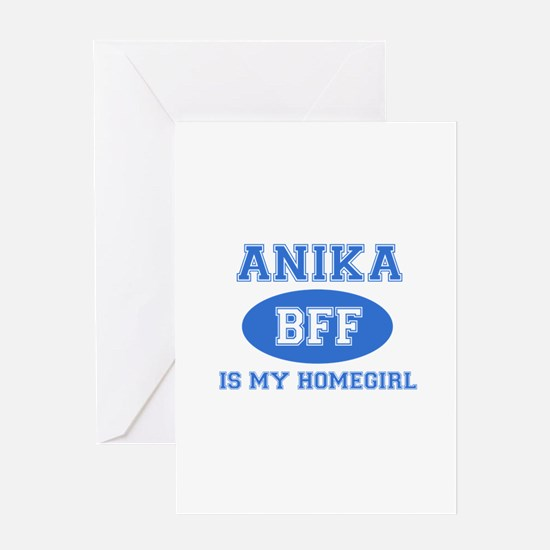 Anika is my home girl bff designs Greeting Card