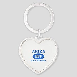 Anika is my home girl bff designs Heart Keychain