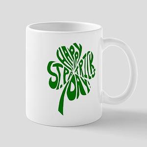 Happy St. Patrick's Day - 4 leaf clover Mugs