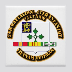 Army - 2nd Bn, 47th Infantry w SVC Ribbons Tile Co