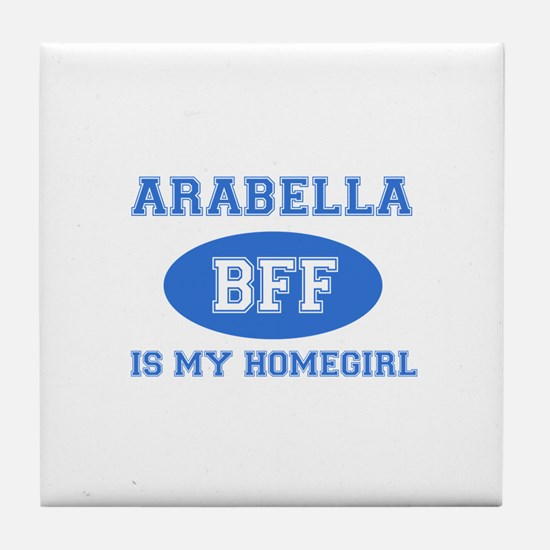 Arabella is my home girl bff designs Tile Coaster