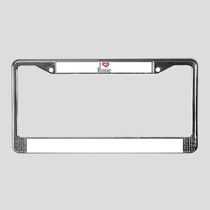 I Heart Rosie License Plate Frame