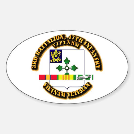 Army - 3rd Bn, 47th Infantry w SVC Ribbons Decal