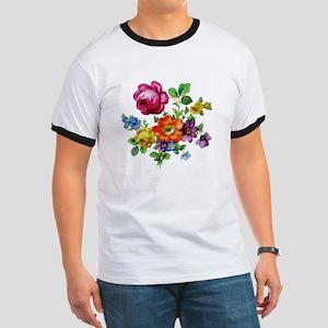 Dresden Flowers Ringer T