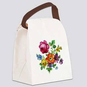 Dresden Flowers Canvas Lunch Bag